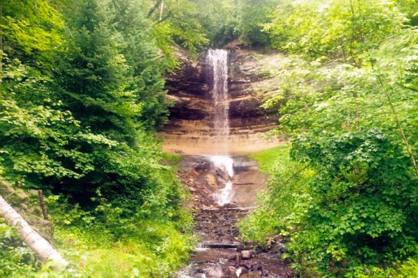 Michigan Falls In the Upper Peninsula