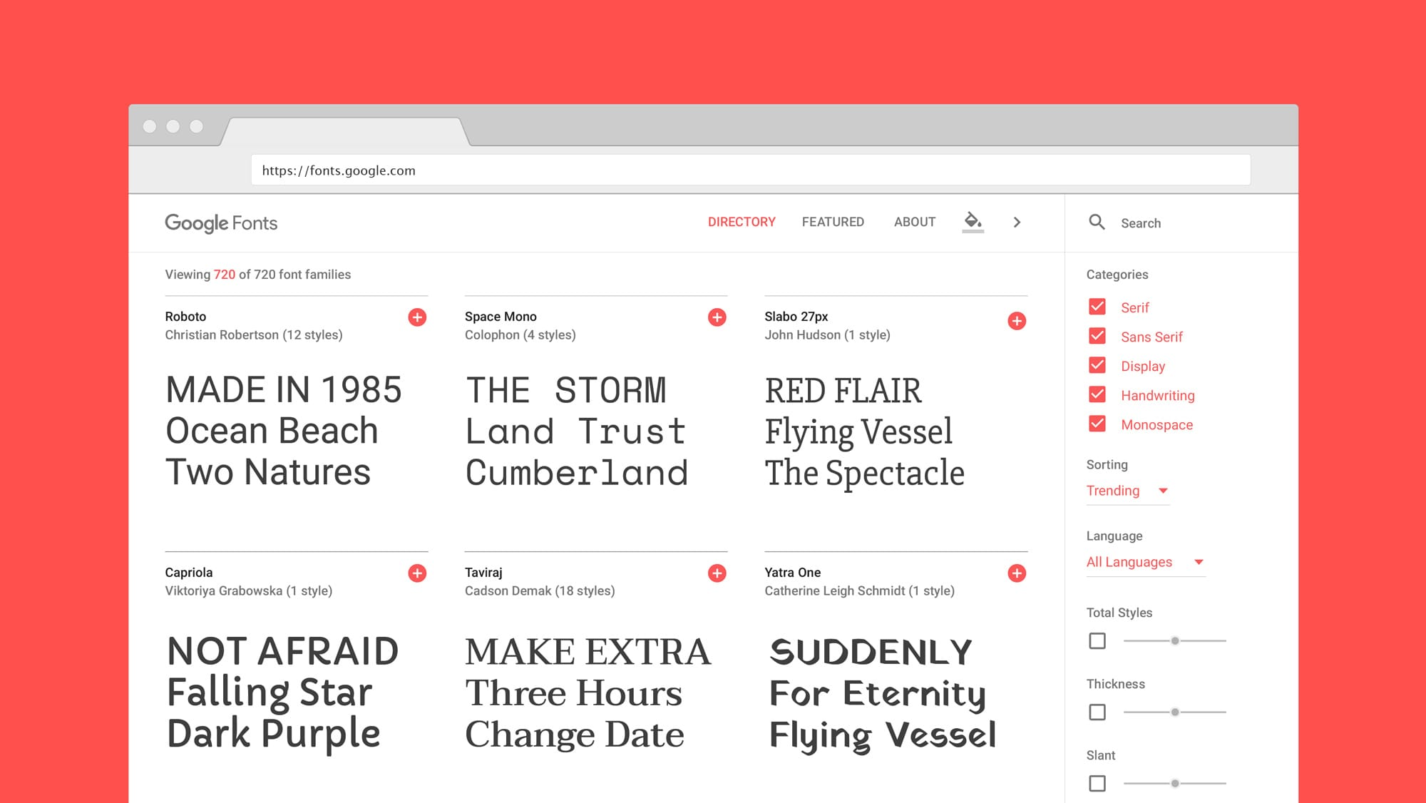 Download Every Google Font From Git As TTF's - Wally David