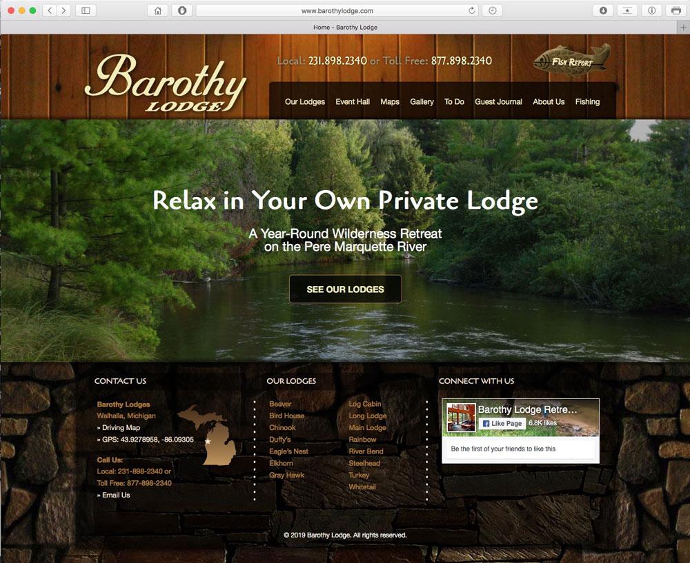 Website Development - Barothy Lodge - Wally David